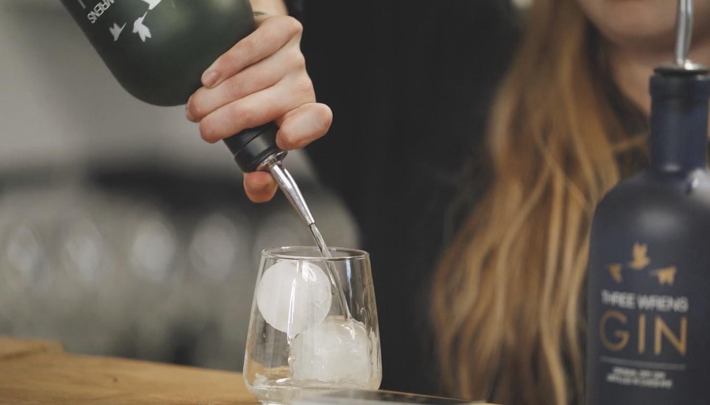 serving original dry gin