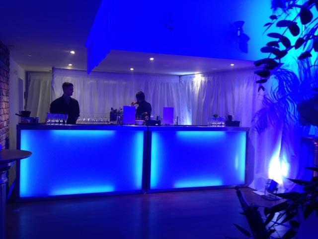 modern illuminated mobile bar hire