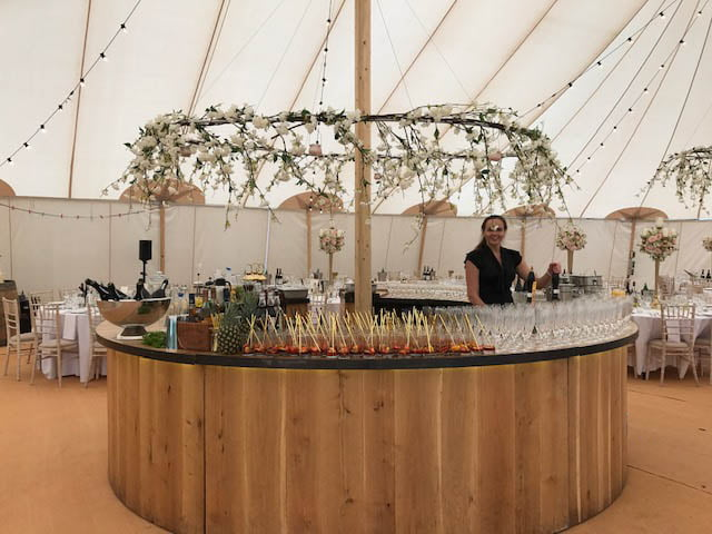 wedding bar hire pretty