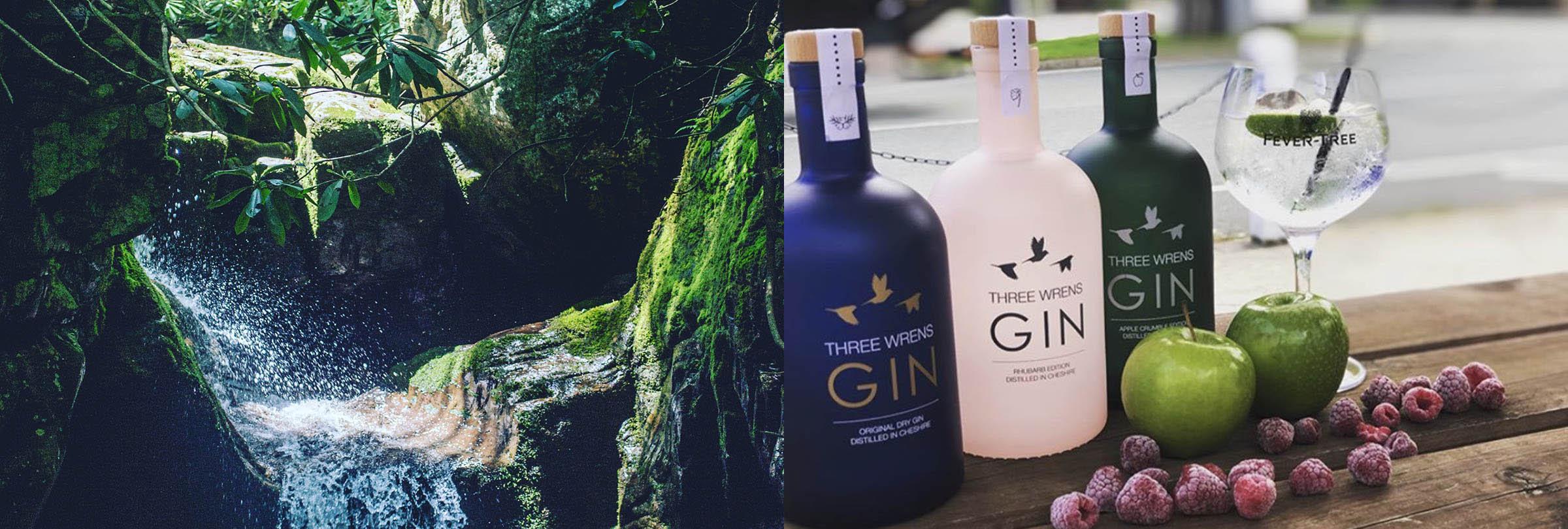 cheshire spring water peckforton three wrens gin