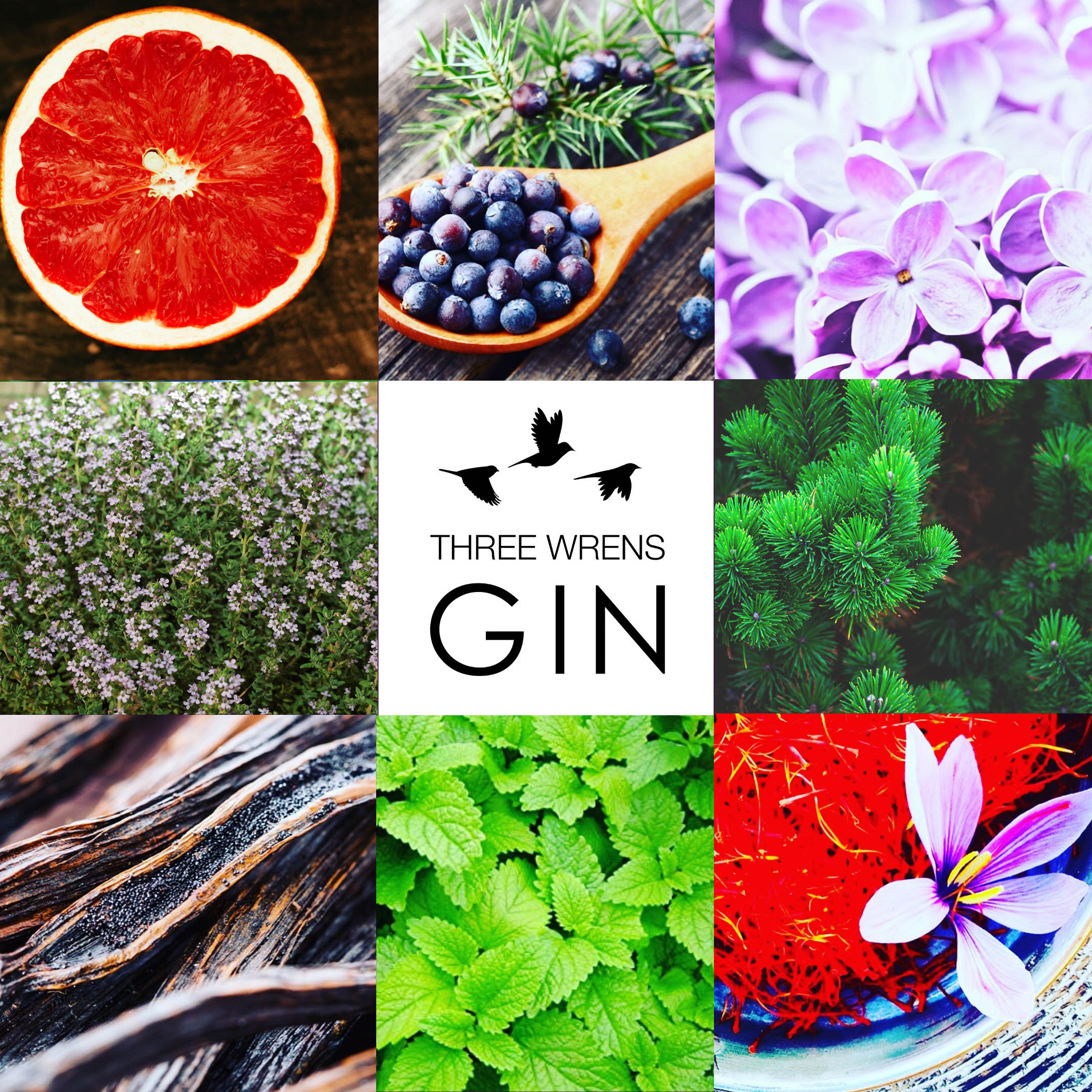 three wrens gin ingredients
