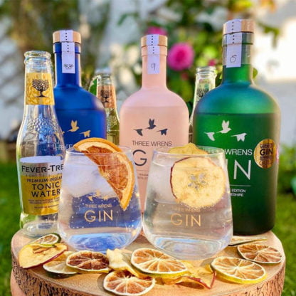summer gin collection mixers garnish three wrens gin