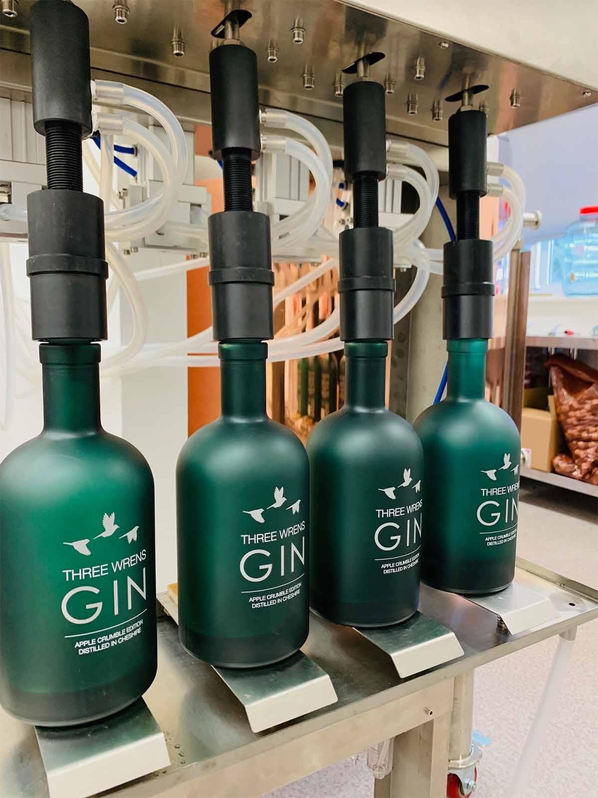 gin bottle filling