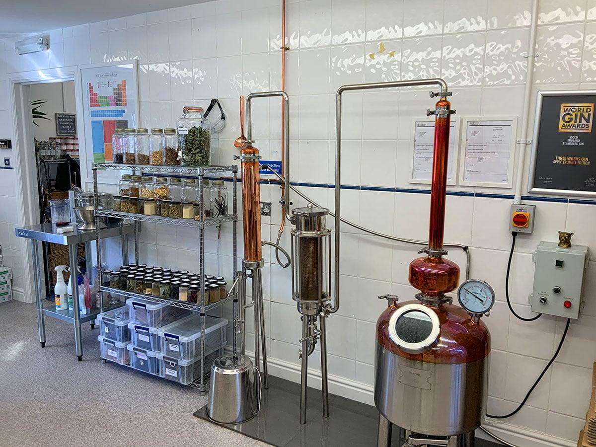 gin distillery setup