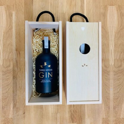 wooden gin gift box