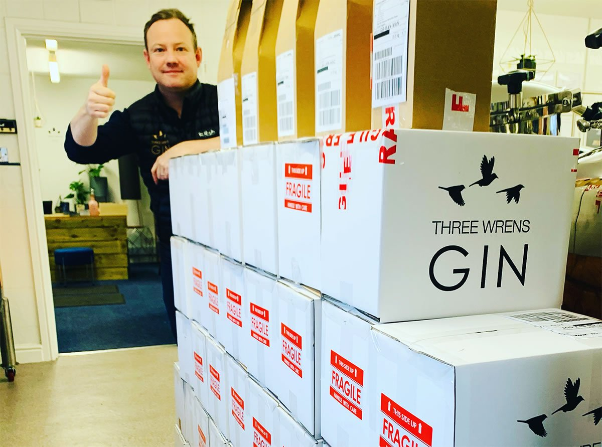 boxes delivery ready gin