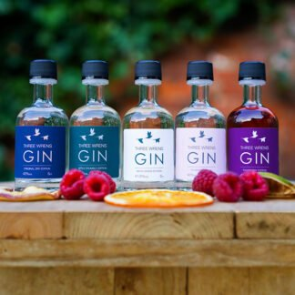 miniature selection five 50ml gins